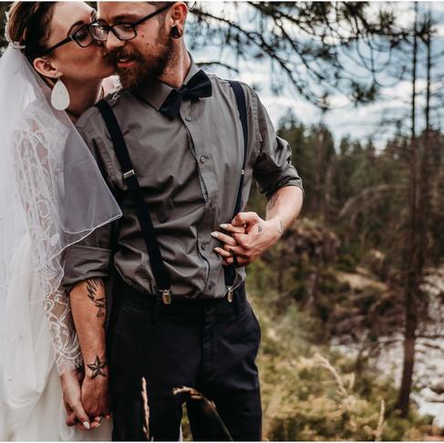 q'emiln trailhead Intimate Wedding / Post Falls, ID / Jessica & Justin