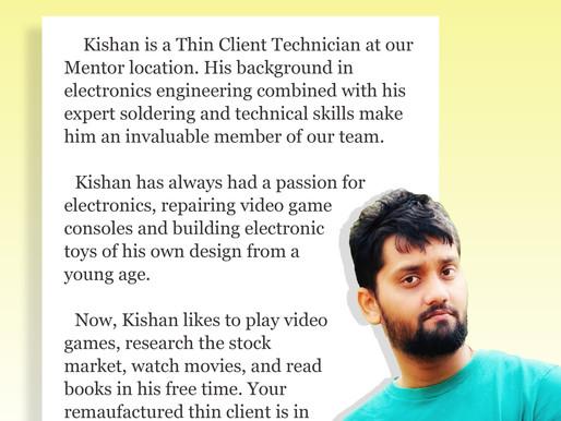 Employee Bio: Kishan