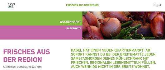 Basel Live berichtet vom Breitemarkt Bas