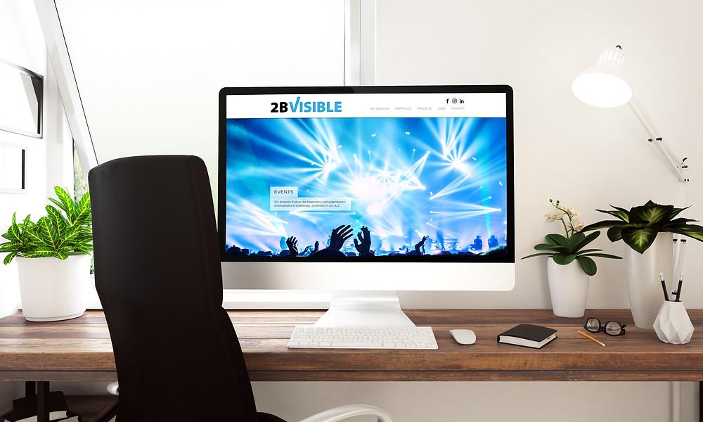 2B VISIBLE Online-Auftritte