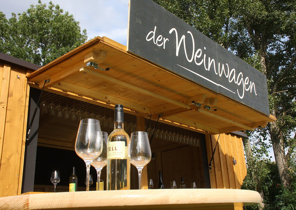 Der Weinwagen - Dein Achterl auf Rädern!