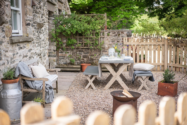 Byre Outdoor Area at The Green Cumbria