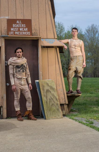 Luke: Union Suit, Double Eagle Shirt & Infinity Scarf - Mathew: Twist Trouser & Medic-Alert Shirt