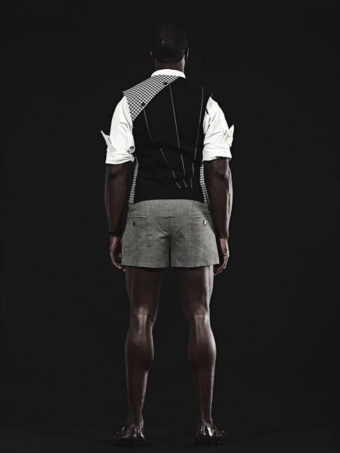 Davey Dukes, V Vest & Sparkle Shirt