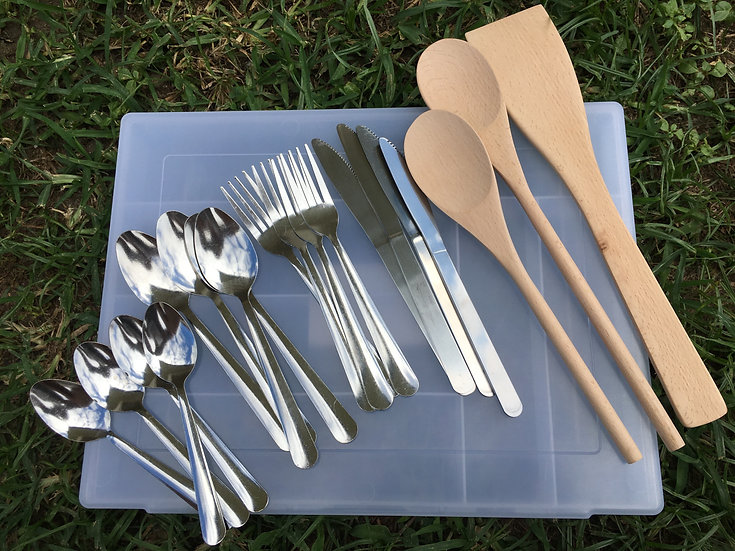 Cutlery & Wooden Spoon Combo