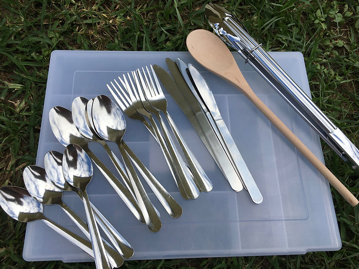 Essentials Bundle with Camping Cutlery Box