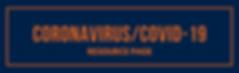 Coronavirus Resource Page Website Banner