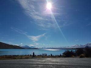 Lake Pukaki view of Aoraki mount cook