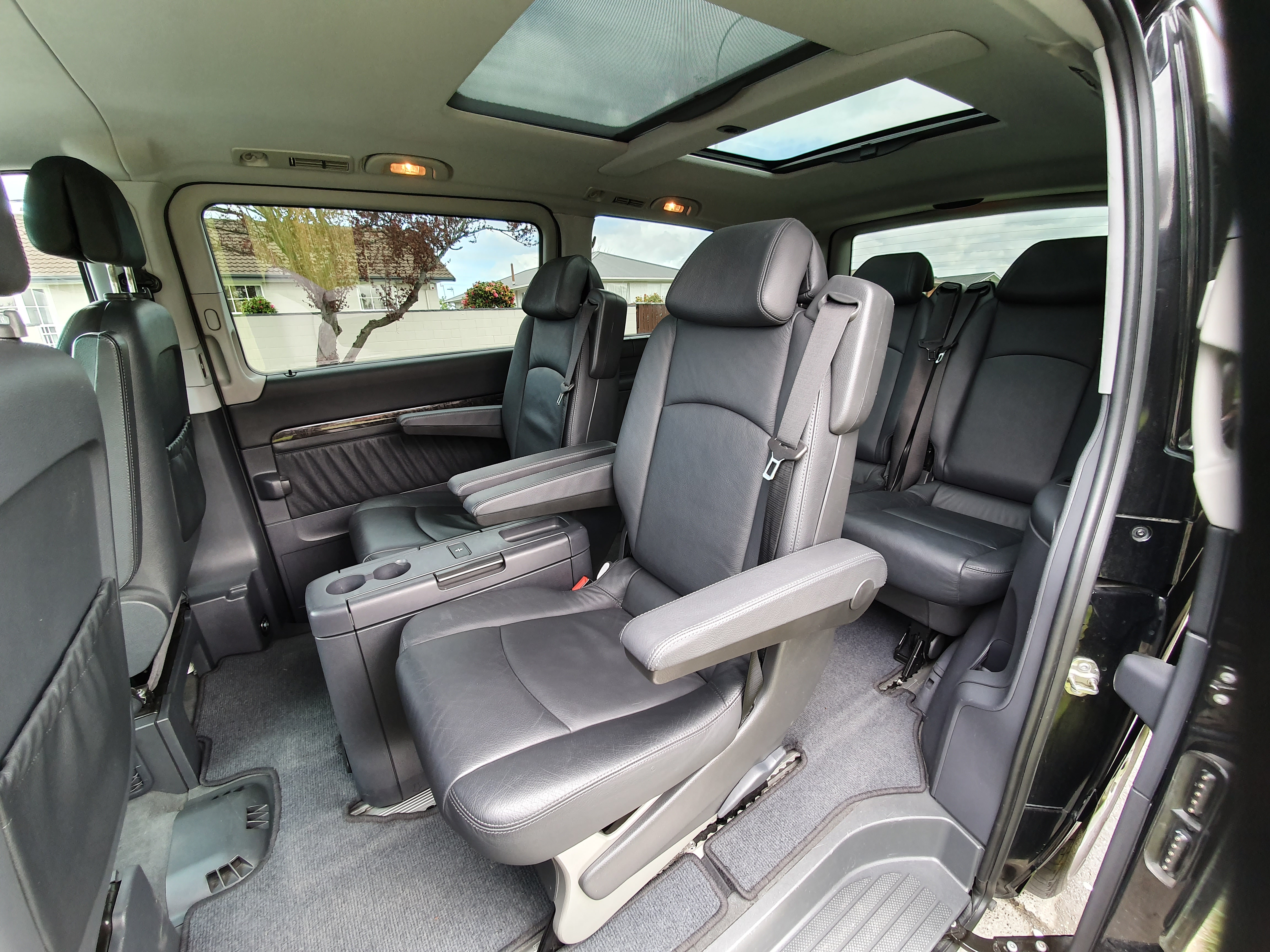 Mercedes Van inside