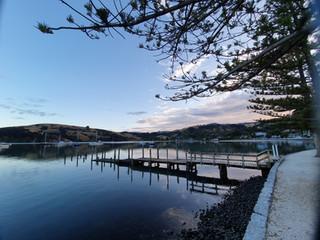 Akaroa Harbor view from main street
