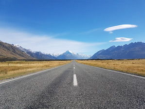Mount Cook from road photo