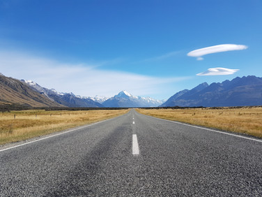 Aoraki Mount Cook road photo
