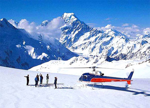 Helicopter line Glacier trips
