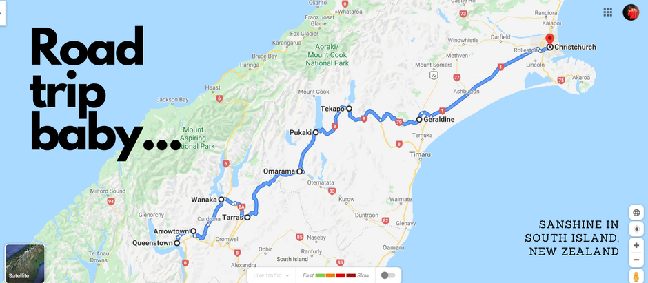 Queenstown to Christchurch Road Trip