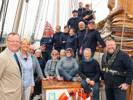 Blyth Tall Ship crew welcomed home