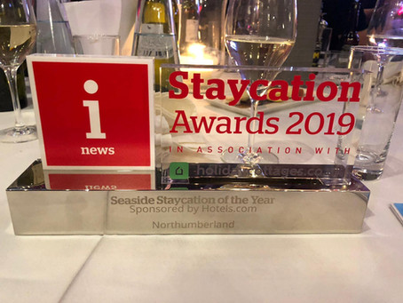 Staycation Award win for Northumberland