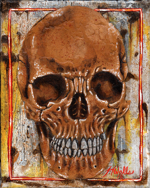 Silver Tooth Skull 8x10