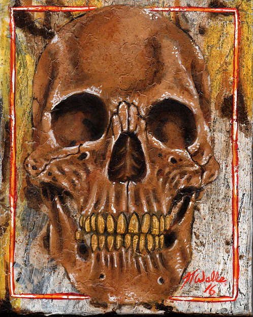 Gold Tooth Skull 8x10