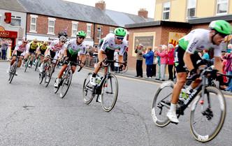 Tour of Britain coming through Seaton Sluice