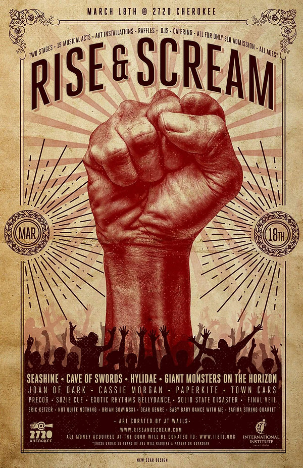 Rise and Scream Event Flier