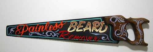 Painless Beard Remover Sign