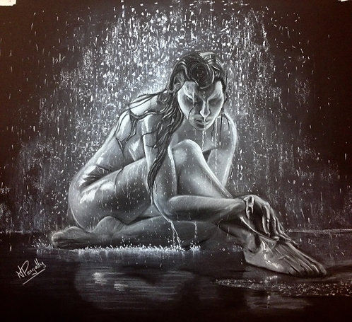 """Rain Lady"" - Ltd Edition Print by Neil Pengelly"