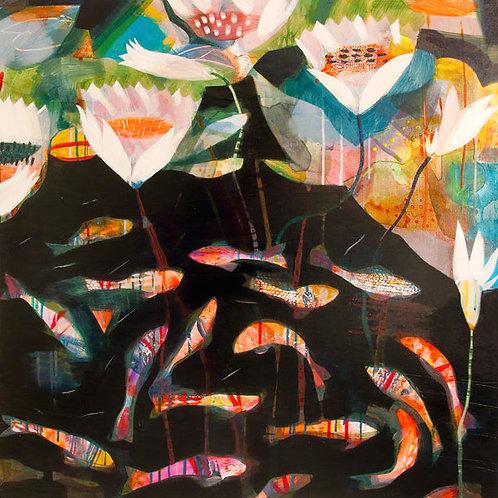 pond fish abstract carp