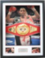 Kell Brook IBF World Title Belt Framed
