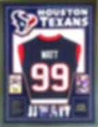 Texans NFL American Football Shirt Frame