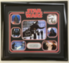 Star Wars Darth Vader signed print framed