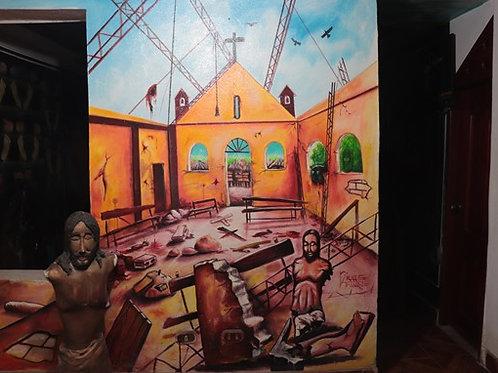 Iglesia de Bojayá tras la masacre