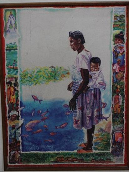 Madre ante el mar (La pesca)