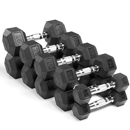 Hex Chromed Dumbbell Rubber Dumbbells