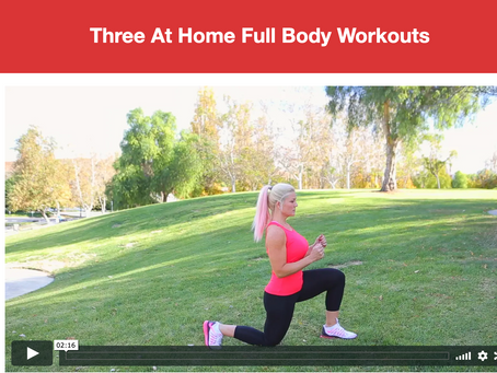 Three At Home Full Body Workouts