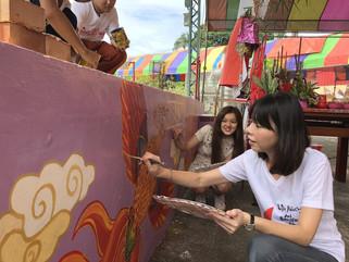 其他|國際志工青年彩繪趣 神岡三角社區披彩衣