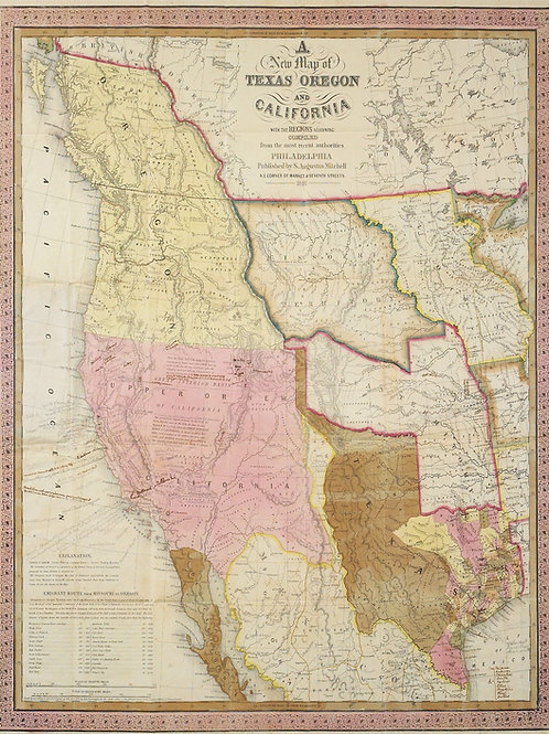 """""""Annotated S. Augustus Mitchell Map"""" Prints by Frances Moore, Jr. - MB-006"""