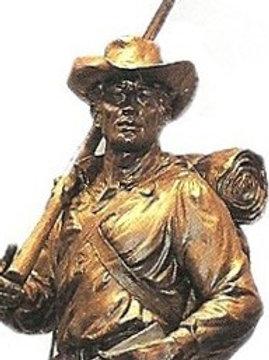 Silver Mormon Battalion Soldier Pin - MD-001