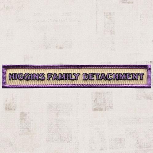 Higgins Family Detachment Segment Patch (16 September-6 October 1846) - CC-1007