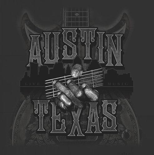 Austin Guitar Hand - Ladies and Unisex Tee
