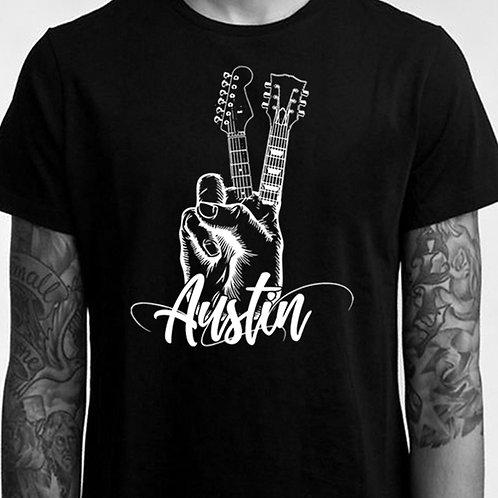 Austin Guitar Peace - Unisex Tee
