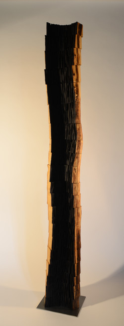 sans titre, robinier, h= 191 cm