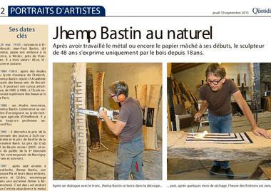 2015 portrait d'artiste dans Le Quotidien (parution 10.09.2015)