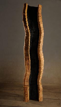 sans titre, robinier, h= 220 cm