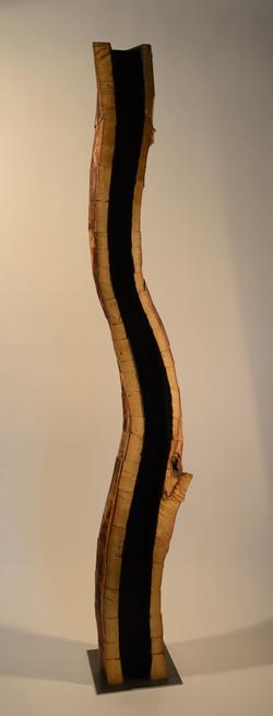 sans titre, robinier, h= 195 cm