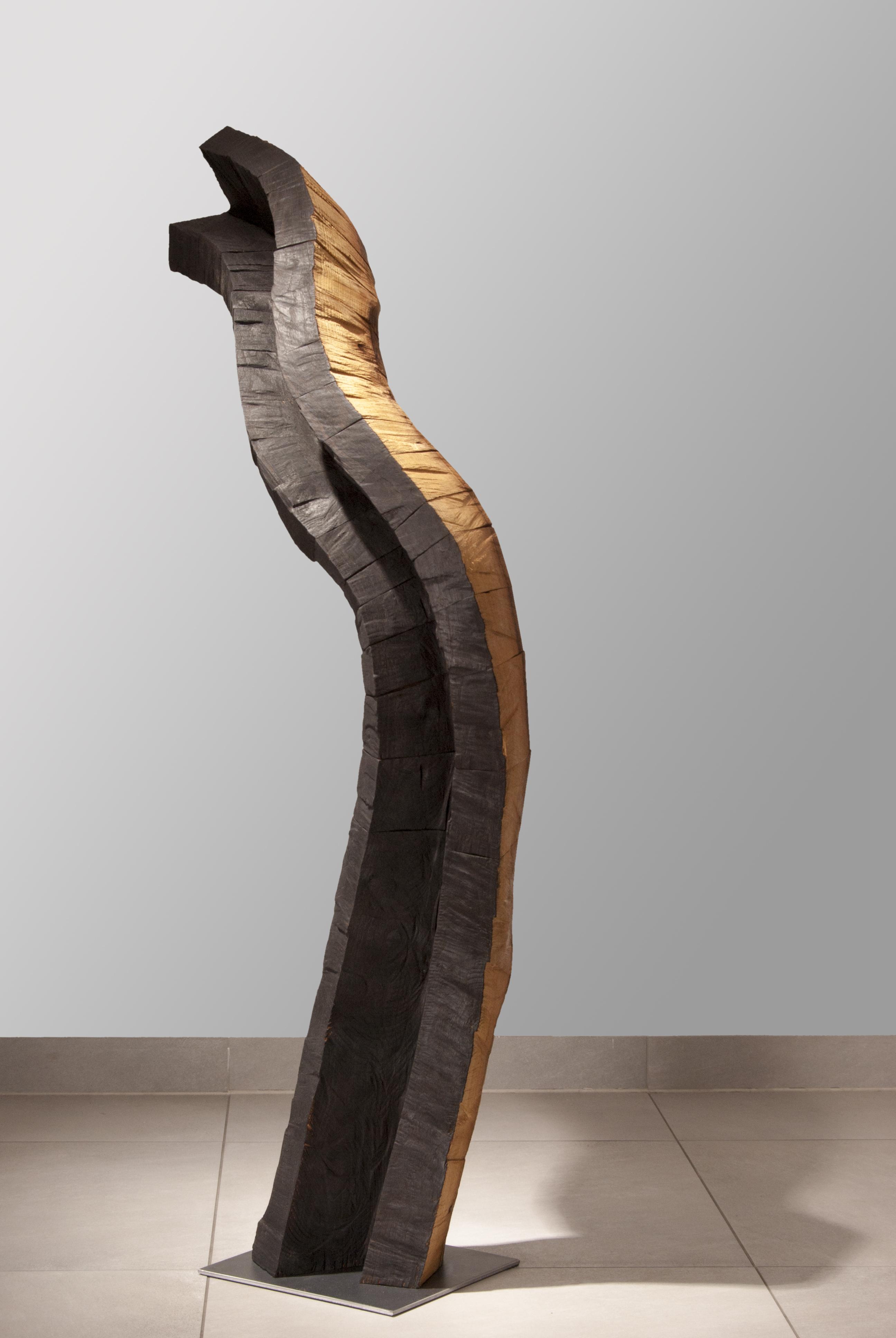sans titre, robinier, h= 129 cm