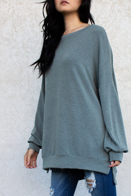 Get Lost Oversized Long Sleeve Top