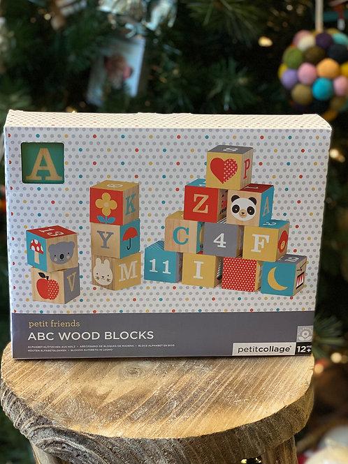 Friendly ABC Wooden Blocks, Set of 15