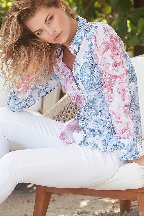 Mauritius Blue/Pink Mix Button Down
