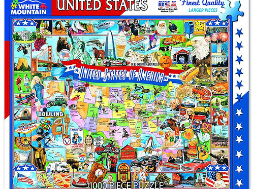 United States of America Puzzle - 1000 Piece Jigsaw