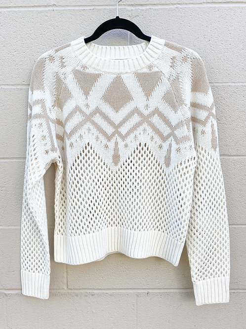525 - Two Tone Knit Sweater